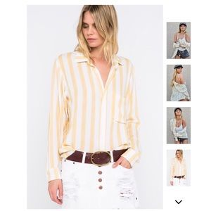 Tops - Sweet Like Honey Striped Button Up